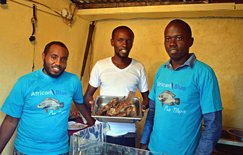 African Blue - Our employees at the shop in Nairobi-South B